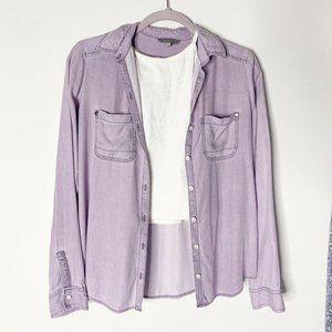 Rubbish XS Purple Long Sleeve Button-Down shirt